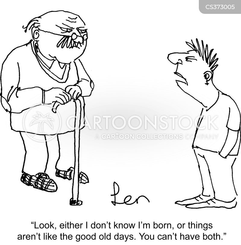 older generations cartoon