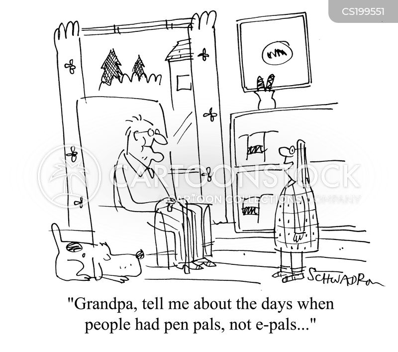 pen pal cartoon