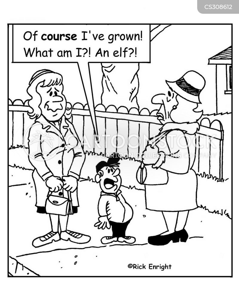 getting taller cartoon
