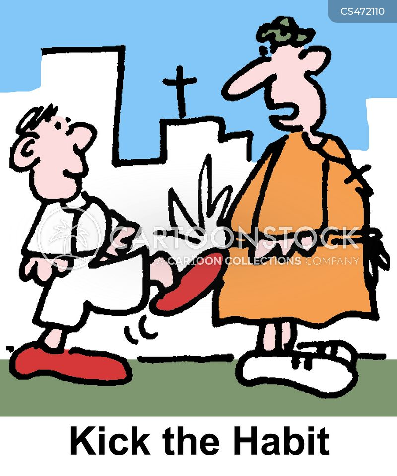 religious habits cartoon