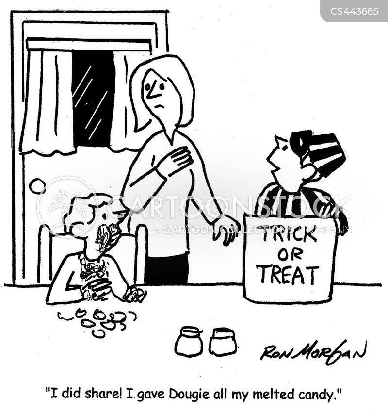 trick-or-treats cartoon