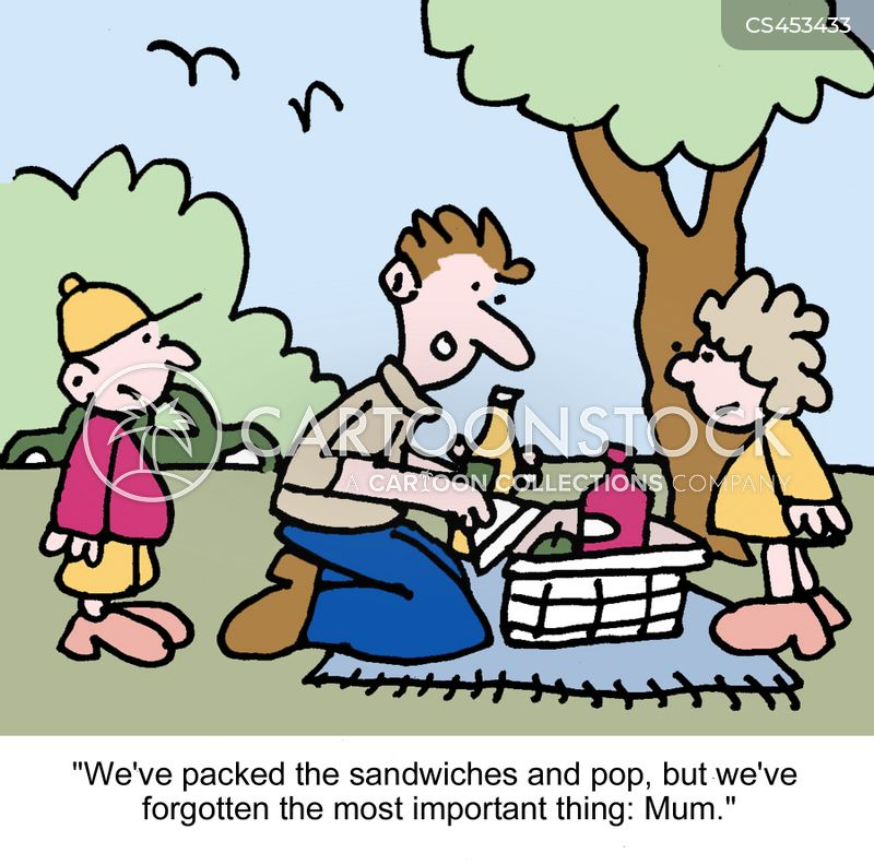 family outing cartoon
