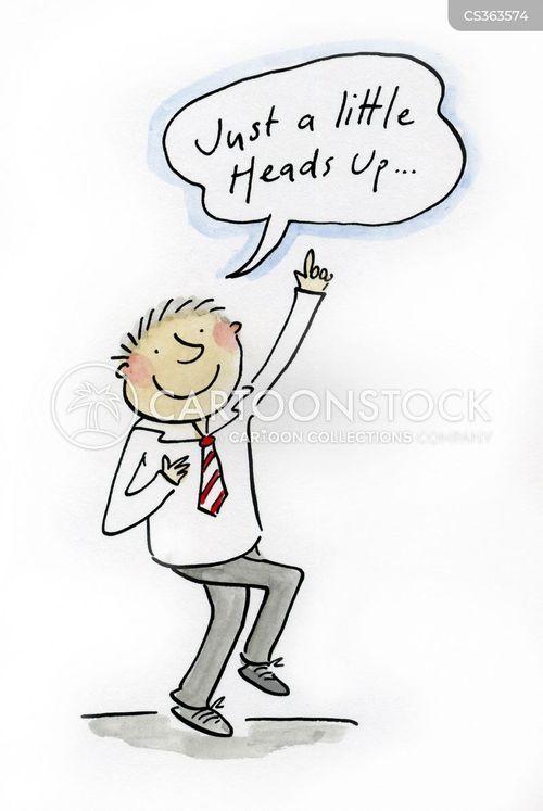 heads up cartoon