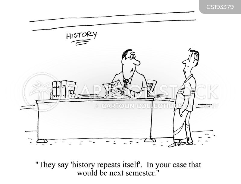 history repeats itself cartoon