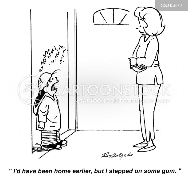 home from school cartoon