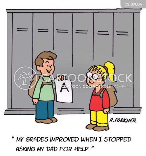 grade cards cartoon