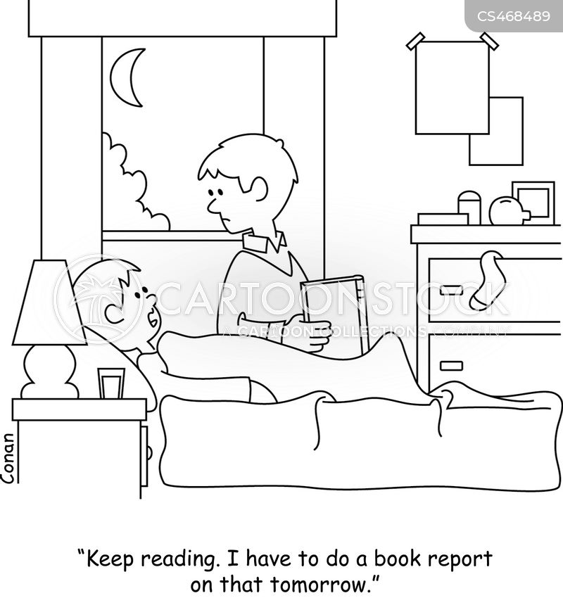 bedtime routine cartoon