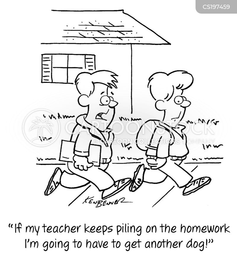 schoolkids cartoon