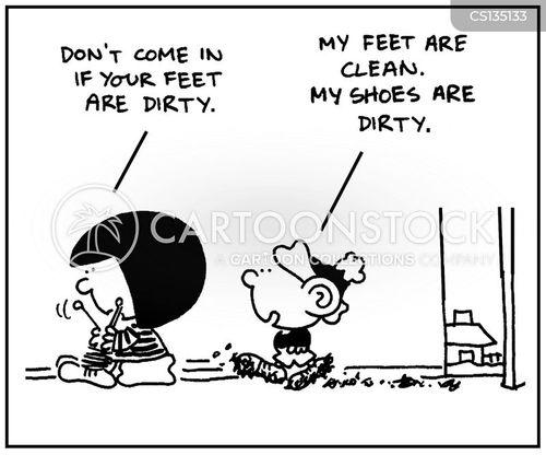 dirty shoes cartoon