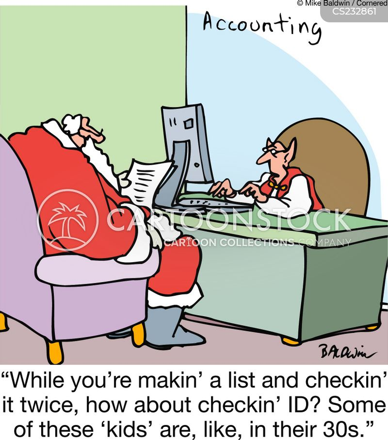 making a list cartoon