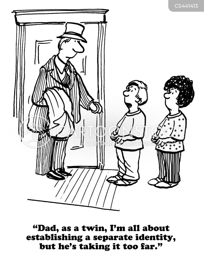identical twins cartoon