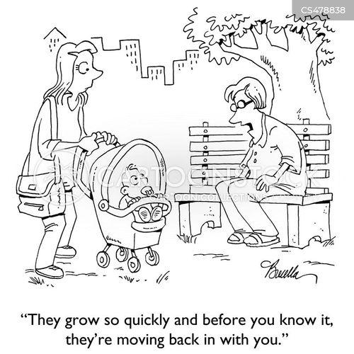 grown-up child cartoon