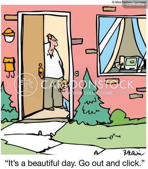 click cartoon