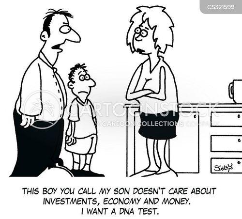 paternity test cartoon