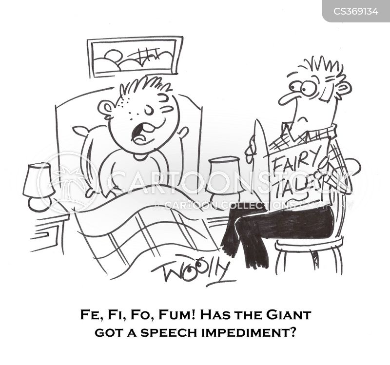 speech impediment cartoon