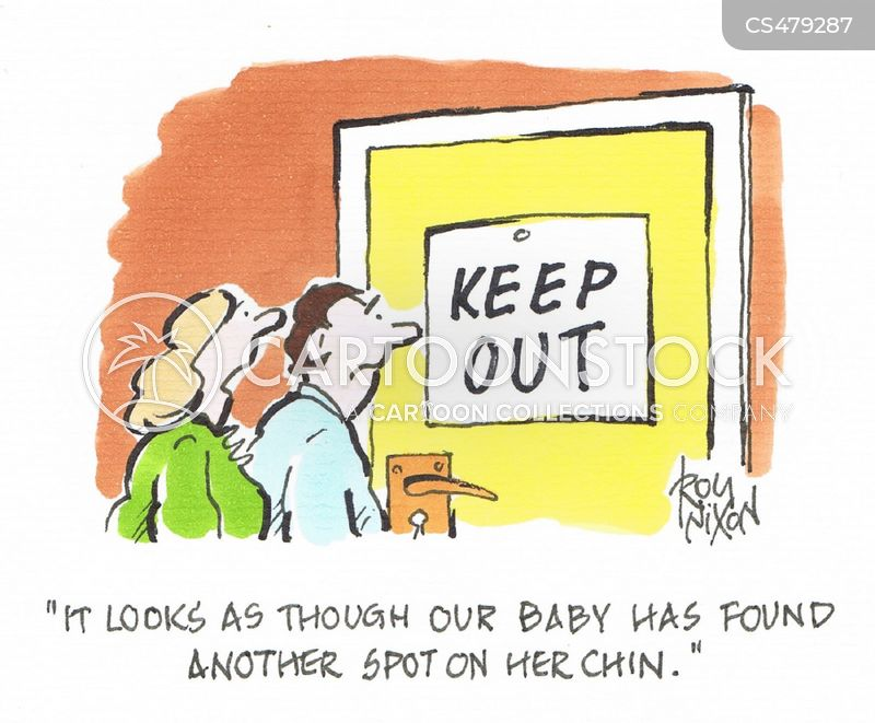 keeping out cartoon