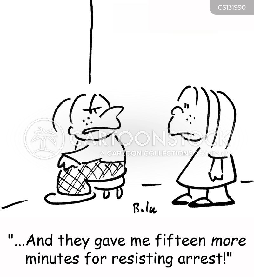 resisting arrest cartoon