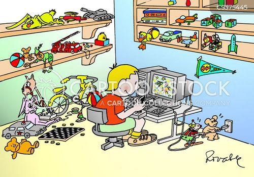 Boys Bedroom Cartoon 1 Of