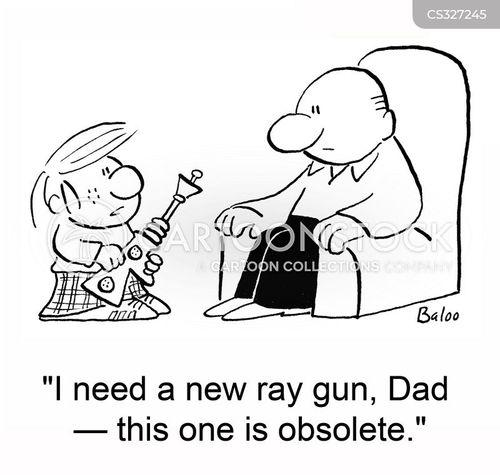 ray guns cartoon