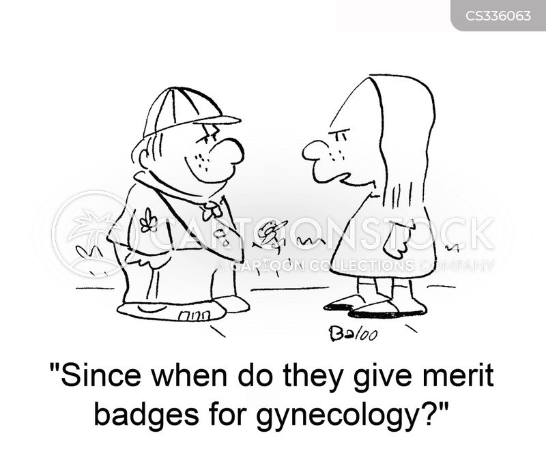 scout badge cartoon