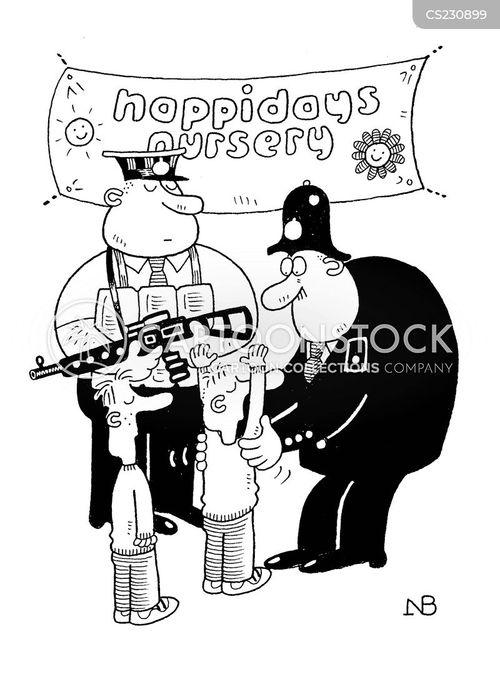 body search cartoon