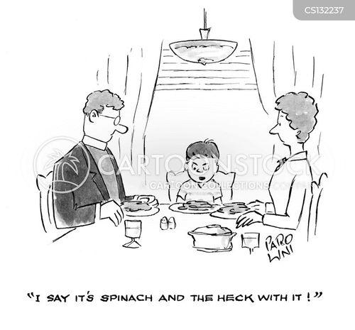 spinach cartoon
