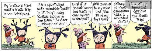 santa traps cartoon