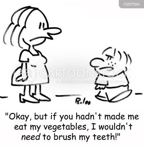 clean teeth personal hygiene cartoon