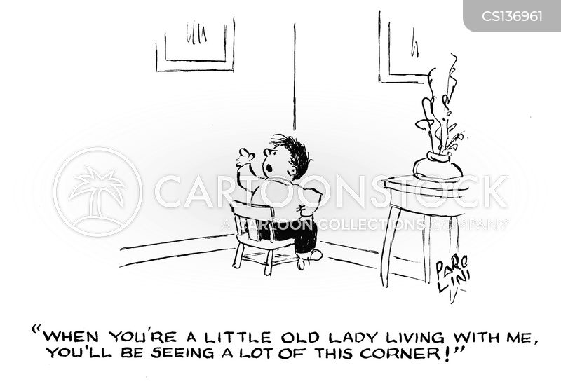 sitting in the corner cartoon
