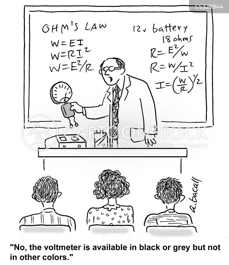 voltmeter cartoon