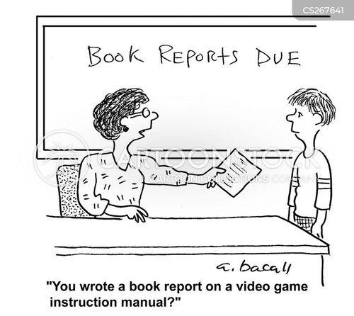 english report cartoon