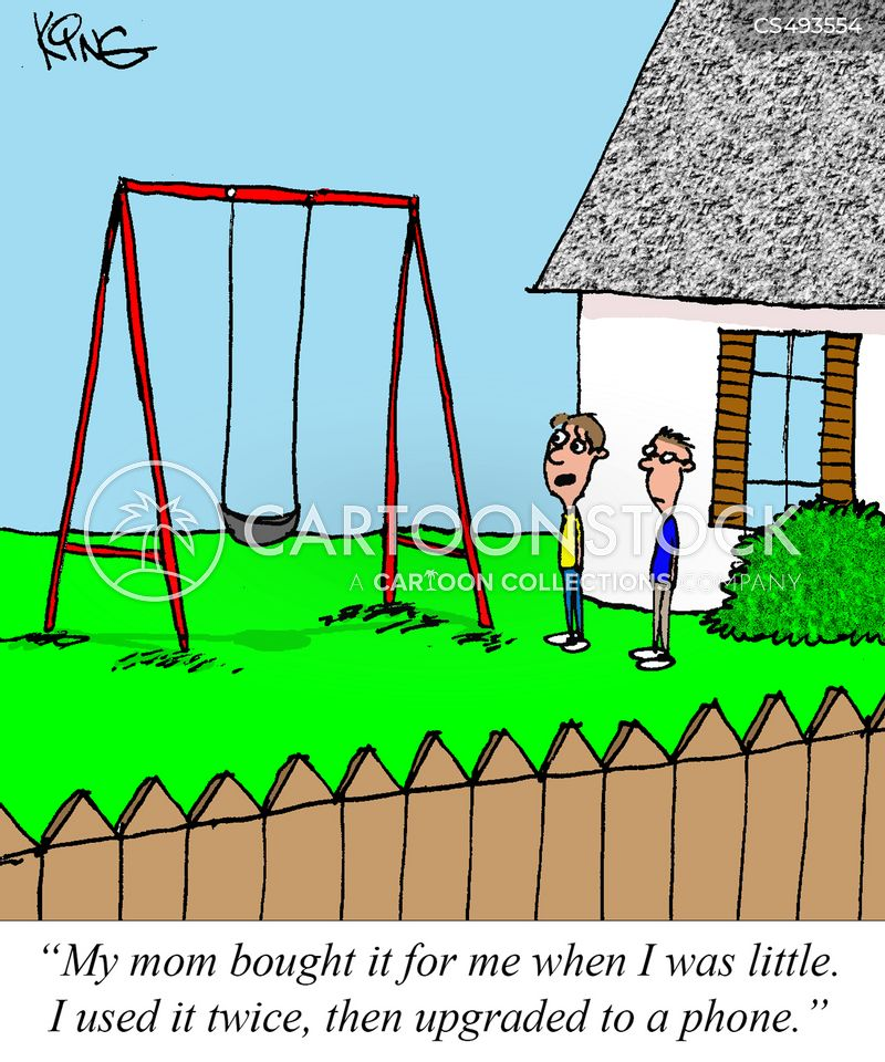 swing-set cartoon