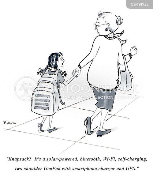 knapsack cartoon