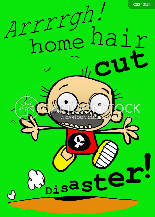 hair cutting cartoon