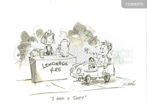 pedal car cartoon