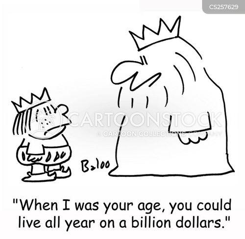 billion dollars cartoon