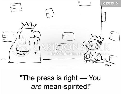mean spirited cartoon