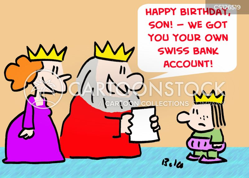 swiss bank account cartoon