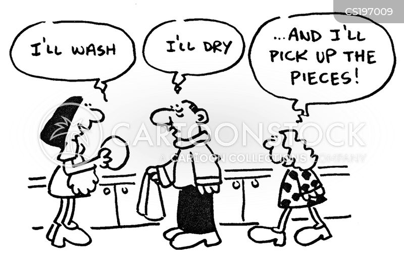 drying cartoon