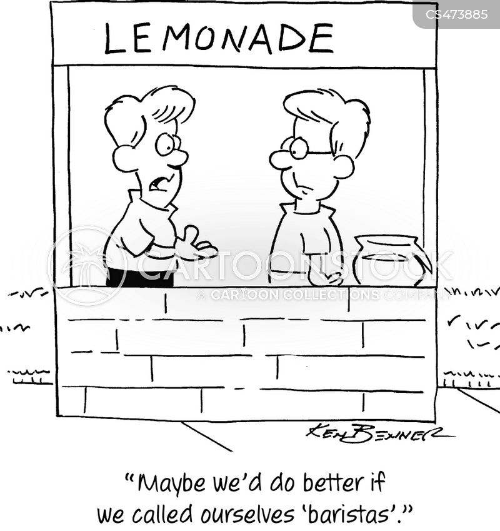drinks stall cartoon