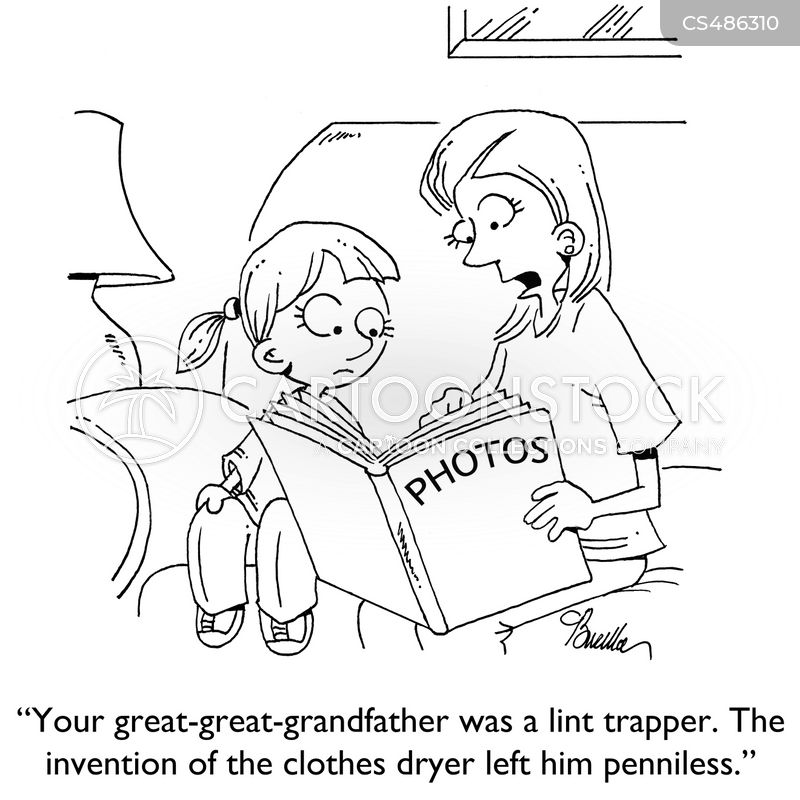 lint trap cartoon