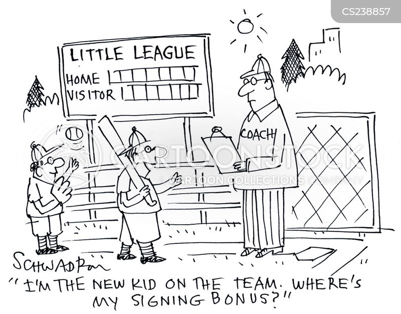 baseball coach cartoon