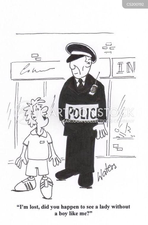 missing child cartoon