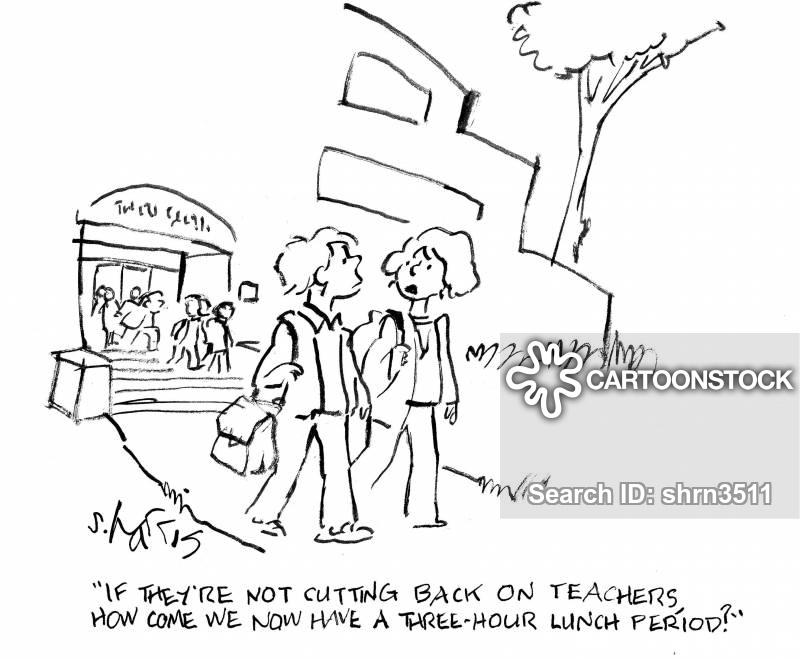 lunch-break cartoon
