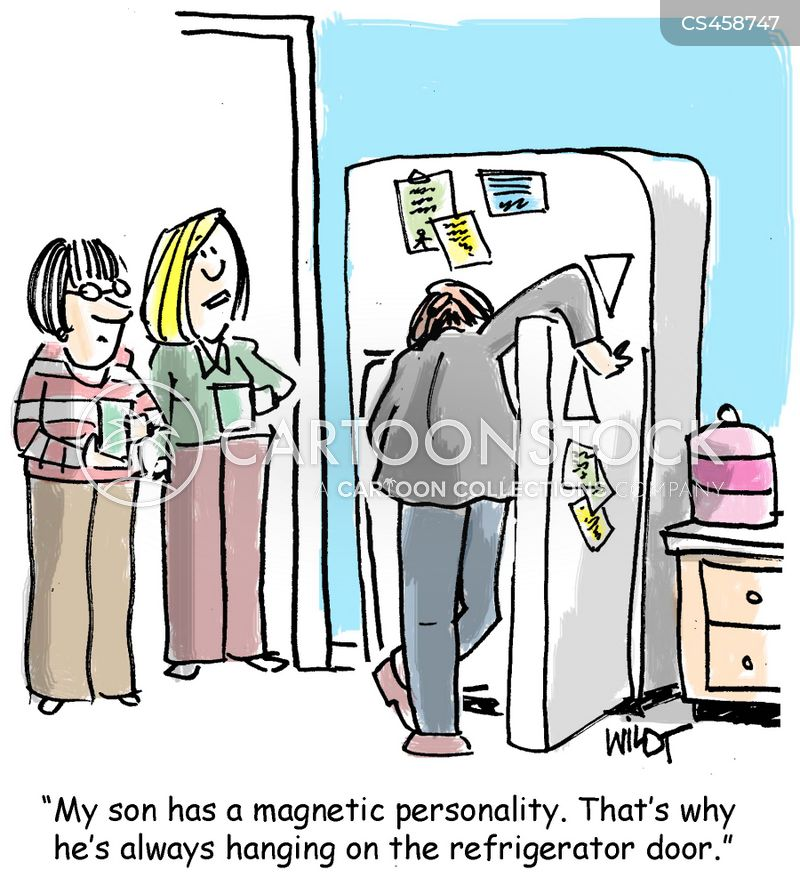refrigerator magnets cartoon