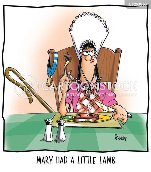 mary had a little lamb cartoon