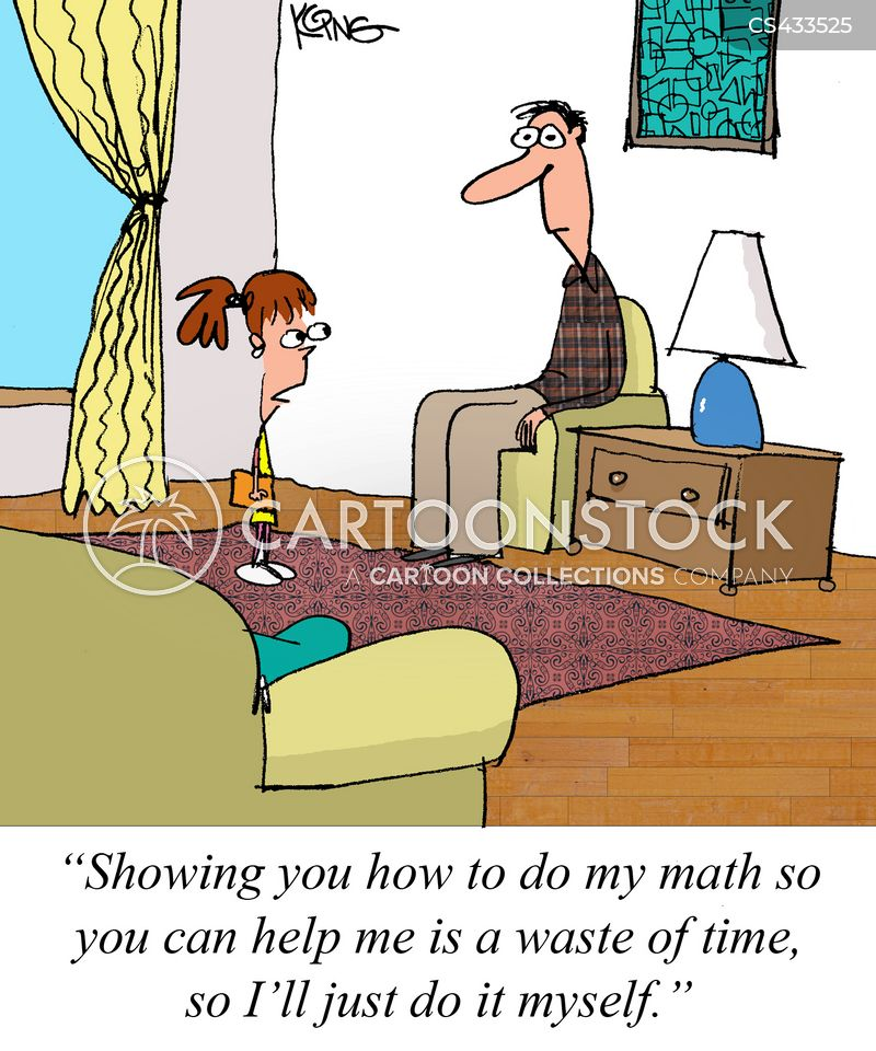 maths assignments cartoon