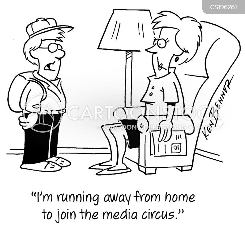 media circuses cartoon