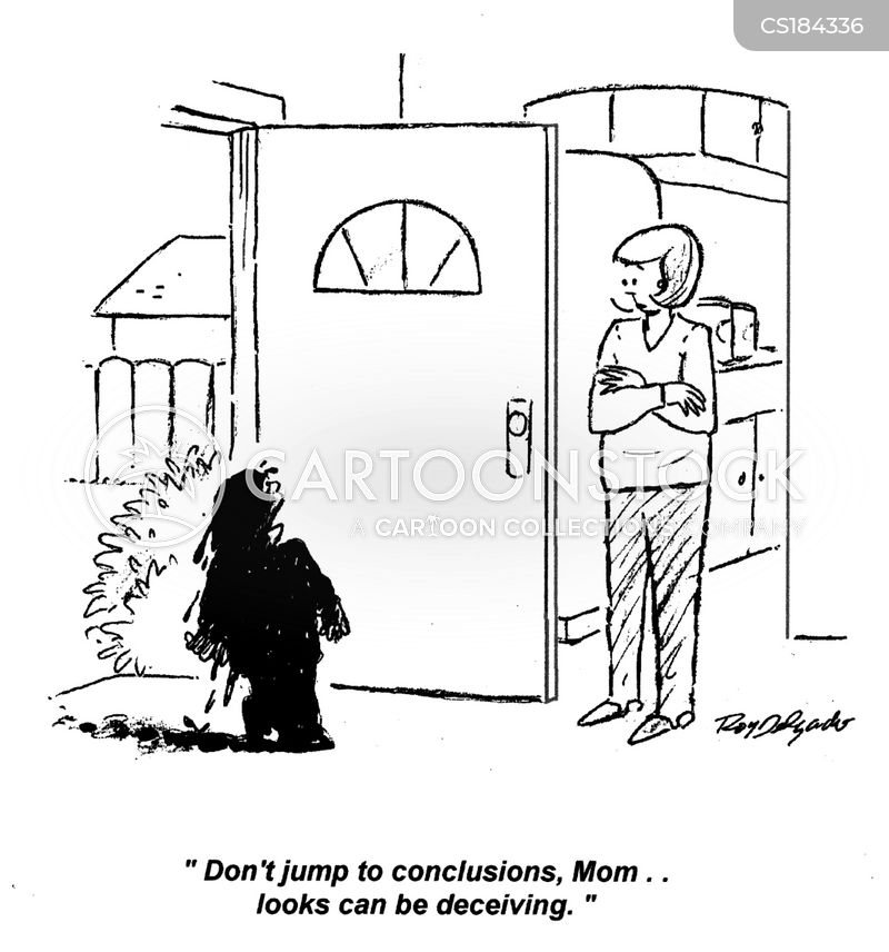 jump to conclusions cartoons and comics