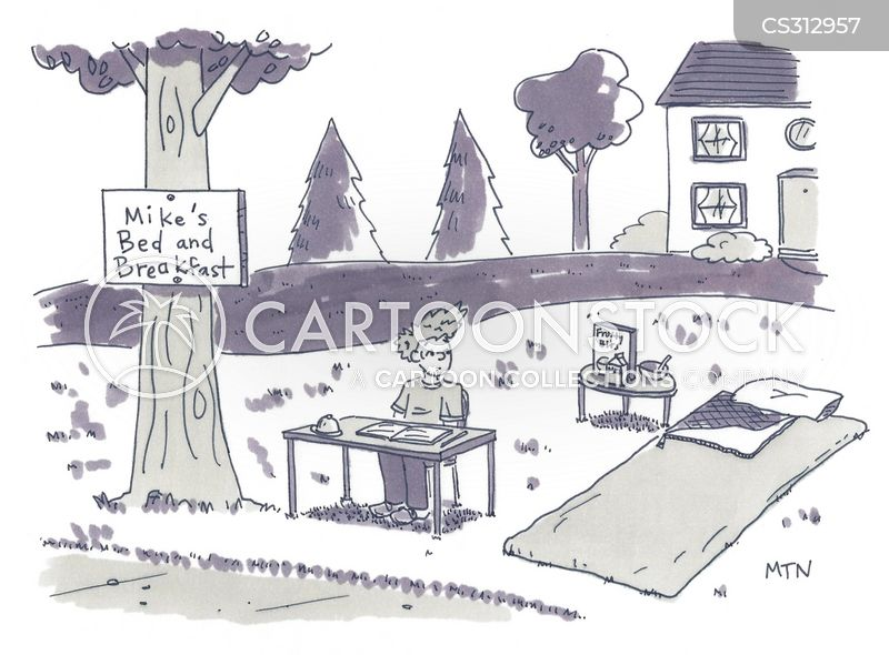 camp bed cartoon